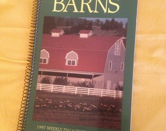 1997 Weekly Engagement Calendar featuring barns.