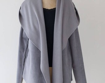 Luxe fleece wrap available in xs, s, m, l, xl