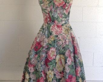 Floral Dress Spring Dress Women Spring Dress For Ladies Vintage Dress Women Vintage Dress 1950s Vintage Dress 50s Midi Dress For Women