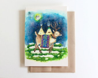 Winter Reindeer Holiday Card