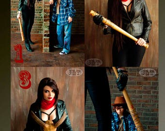 The Walking Dead,  Negan, Cosplay Print - Signed