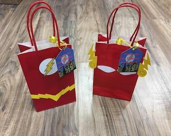 Superhero Flash Goodie Bags Loot Bags Favor Bags Treat Bags Party Bags  Avengers Marvel DC comics Justice league Set of 10