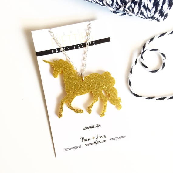 Unicorn Necklace | Unicorn Party Favor | Unicorn Party | Unicorn Pendant