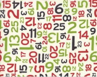 Moda - Hometown Christmas - Christmas Countdown - Multi - Fabric by the Yard 5665-11