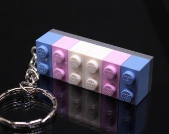 Transgender Brick Keyring