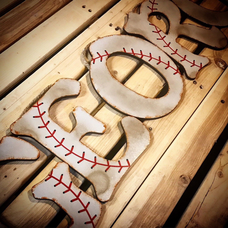 Baseball Wall Letters-Baseball Letters-Baby Boy Nursery