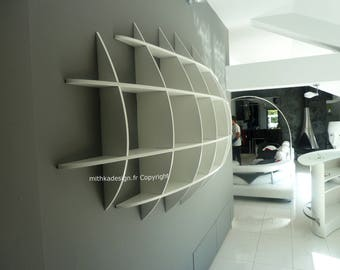 Invisible fastenings JAPONISANTE2 design wall library