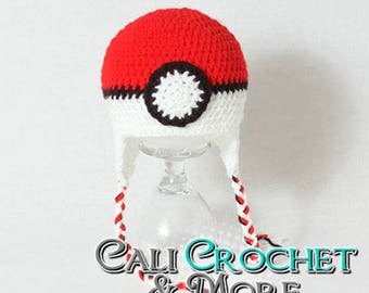 Crochet Pokeball Hat {Made to Order}