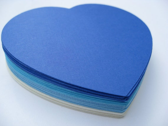 50 Hearts. CHOOSE YOUR COLORS. 3 inch. Wedding, Escort Cards, Tags, Wishing Tree. Custom Orders Welcome.