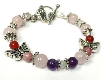 Fertility Bracelet, Butterfly, Fertility Jewelry, Infertility Bracelet, Pregnancy Jewelry, Wedding Shower, Bride Gift, Gift for girlfriend