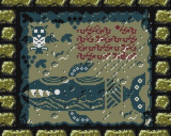 Zelda Legend of the Wind Fish Cross Stitch Pattern