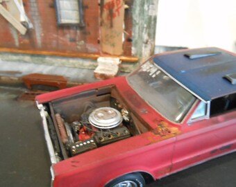 Scale Model,Musclecar,Plymouth GTX,RatRod,Barn Find,RustedWreck,Classicwrecks,Wood Building