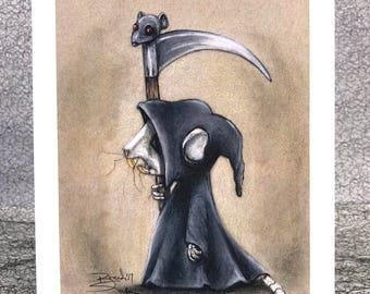 Rat Reaper 5x7 Print