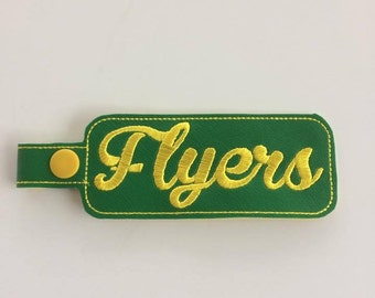 "4"" Flyers Bag Tag - 5 x 7 ONLY - In The Hoop - DIGITAL Embroidery DESIGN"