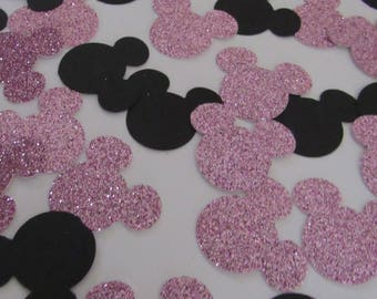 Minnie Mouse Confetti - Pink and Black * FREE SHIPPING!