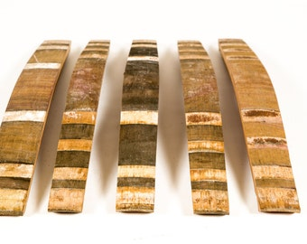 Puncheon Barrel Staves (Set of 5) - Oak Wine Barrel Staves / Craft Supplies / Art Projects / Woodworking - 100% Recycled!