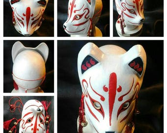 Leather Kitsune Mask