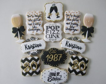 40th birthday milestone cookies