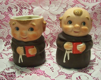 Friar Creamer and Sugar Container