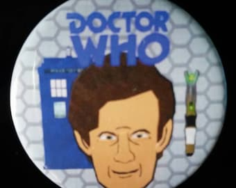 Doctor Who. Eleventh Doctor. Custom 38mm Pin Badge.