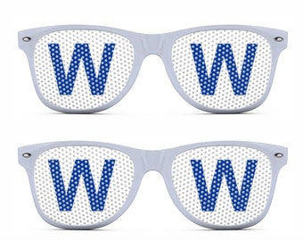 Chicago Cubs Baseball W Win Flag Sunglasses - Fly the W - #flythew