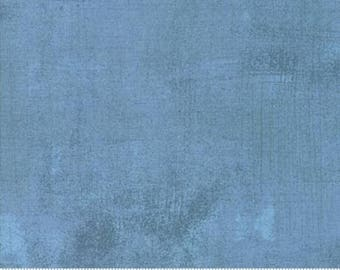"Faded Denim Grunge Fabric, Light Blue Grunge Fabric, Basic Grey Fabric, Moda Fabrics, Grunge Basics, End of the Bolt, 1 yd + 15"", 30150 387"