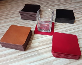 Set of 4 Leather Coasters , coffee coasters, Leather coasters set, Engraved Coasters, Custom Wedding Coasters, coffee coasters set