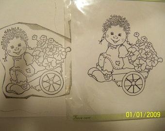 Bildmalarna unmounted rubber stamp: Tossa-cart