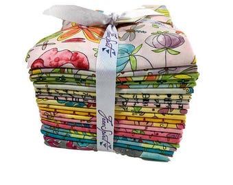 Free Spirit Laura Heine The Dress Fat Quarter Bundle 19 FQ + Panel Quilt Fabric