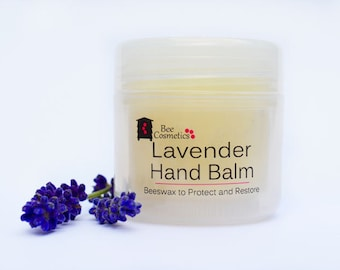 Lavender Hand Balm. Natural beeswax skincare. 50ml