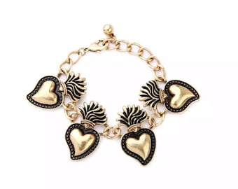 Vintage hearts bracelet