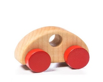 Wooden toy car organic and eco montessori