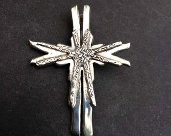 Cross Sterling Silver Brutilist /Modern