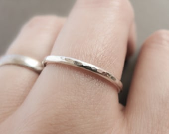 Simple Ring, sterling silver stacking ring, minimalist stackable rings