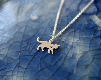 Cat Charm Necklace- Sterling Silver Cat - Cat Charm - Kitty Charm - Cat Jewelry - Cat Lover Gift - Cat Theme - Cat Owner Gift - Kitty Cat