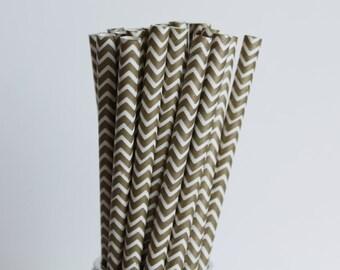 Metallic Gold Chevron Paper Straws-Gold Straws-Wedding Straws-Chevron Straws-Mason Jar Straws-Gold Party Straws-Zigzag Straws-Paper Straws