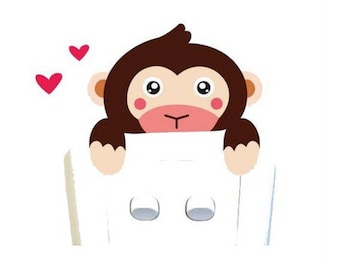 Sticker 1 monkey to switch or outlet