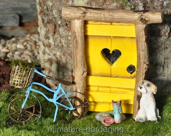 First Signs of Spring Door for Miniature Garden, Fairy Garden