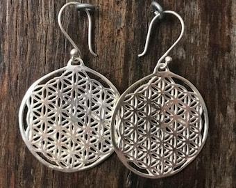 FLOWER Of LIFE -Sterling Silver Earrings
