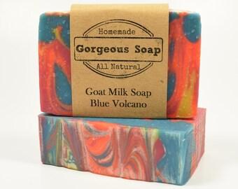 Blue Volcano Goat Milk Soap - All Natural Soap, Handmade Soap, Homemade Soap, Handcrafted Soap