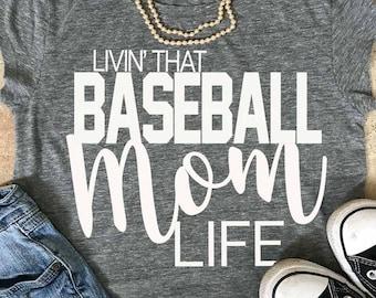 Baseball Mom svg, Baseball Mom lIfe svg, Baseball svg, mom, svg, eps, png, Baseball Mama svg, iron on decal, Baseball shirt, cut files