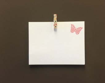 Butterfly Notecards - Gocco Printed (5 pack)