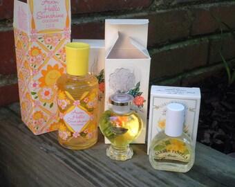 Vintage Avon Perfume Bottle / Decanter + Fragrance 4 Lot - Retro Avon Fragrance Cologne Scents - New Old Stock NOS NIB Collectible Avon Gift