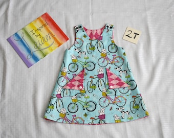 Reversible Pinafore - Size 2T