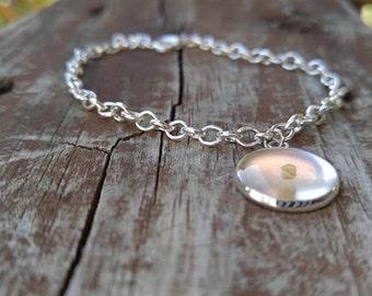 Silver Mustard Seed Charm Bracelet