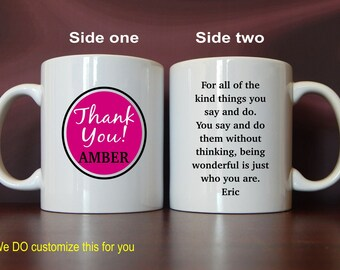 Birthday Gift  for Wife - Personalized Mug for Boyfriend - Thank You  Gift for Husband - from Wife - Girlfriend,  MTY009
