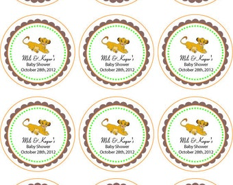 Lion King Printable Cupcake Toppers or Tags