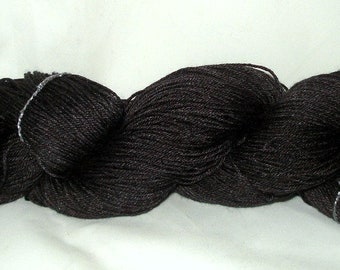 Black/Charcoal Tonal Umpqua Hand Dyed Fingering Weight Sock Yarn 4 oz  433 yards