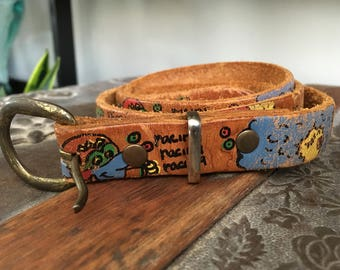 Vintage leather do your thang belt