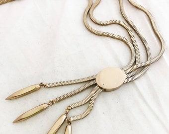 Enamel Necklace- Monet black gold short statement low necklace classic 80s